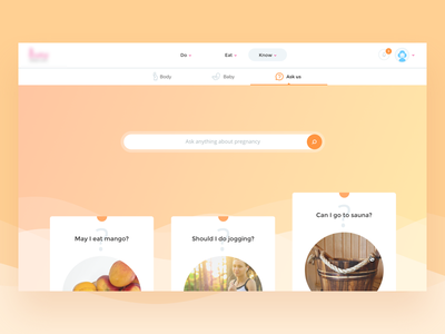 Webapp for pregnant baby yellow orange dashboard pregnant webapp