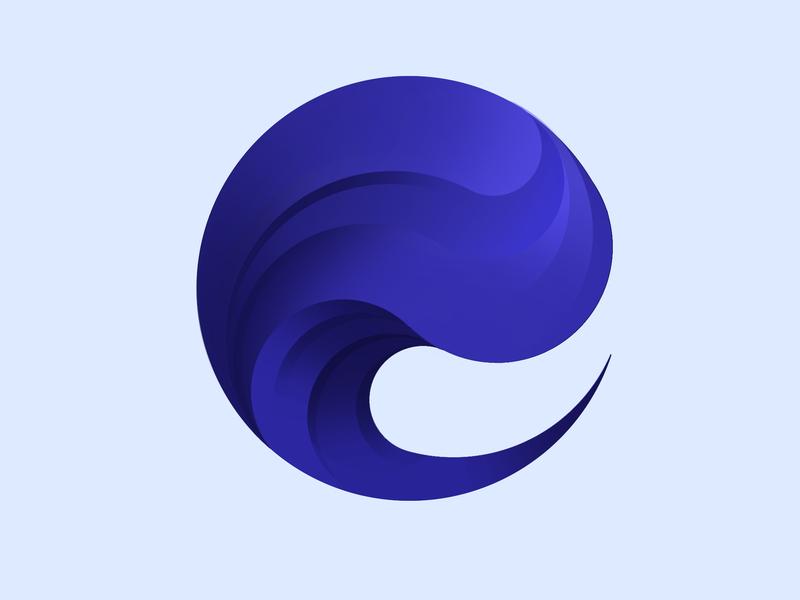 blue wave design design vector logo illustration wave art