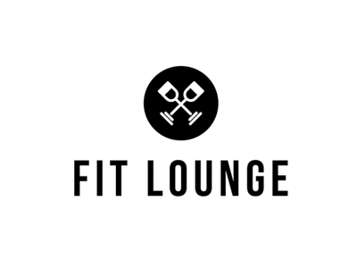 Fitlounge bar fitness black and white lounge gym logo