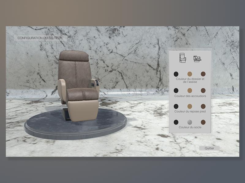 Chair configurator icone logo fauteuil sofa chair design web interface shot dribbble ux ui