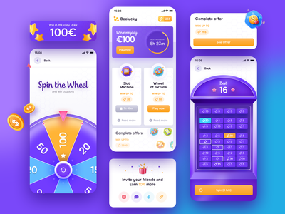 Casino Royale 😎 mobile ui 3d purple gaming app game design game design mobile tickets ticket gaming spin wheel spinner spin lottery lotto gambling casino games casino illustration