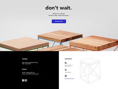 Formann-Loyt  onepage landbook landing page simple logo minimal website bedside table table coffee chair furniture