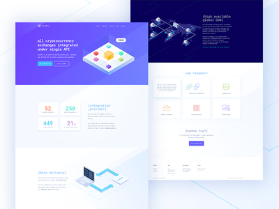 CoinAPI.io webdesign theme light violet desktop landing www digital design website