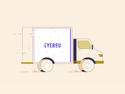 Just a 🚐 [animated] adobe after effects aftereffects motion graphic motion design animation gif animated gif vector light white landing website minimal clean illustration digital design