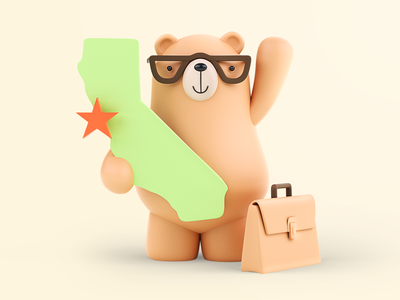 Bear - 3D Illustration