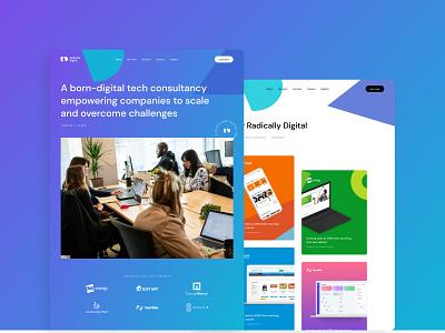 Radically Digital - Landing page uiux design landing page ui responsive design ui design web design
