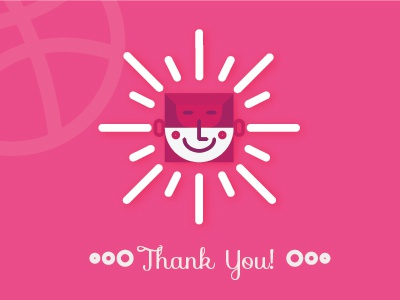 Dribbble debut - Thank You!  thankyou you thank gratitude appreciate dribbble shot first debut
