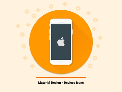 Material Design - Devices Icons android windows apple iphone mobile phone electronic gadget icon devices design material