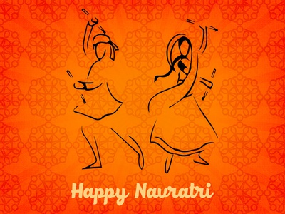 Happy Navratri! joy gujarat dance folk tradition indian garba navratri