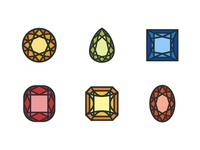 Diamond Shape Icons