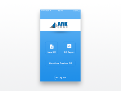 ARK Scan - Home Screen design app ios screen home scan ark