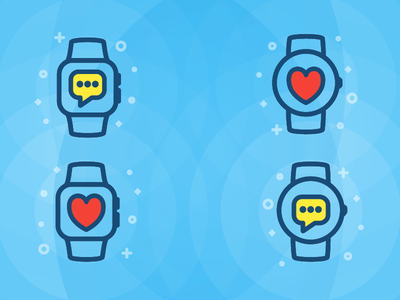 Watch Icons message love fill icon outline wear android apple watch