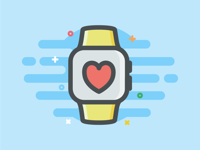 Watch - Icon smartwatch love fill icon outline wear android apple watch