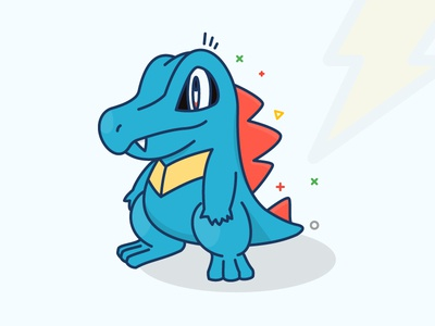Totodile!!! amazing fun ball totodile go pokemon