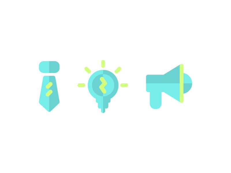 Flat Business Icons idea productivity icons business flat