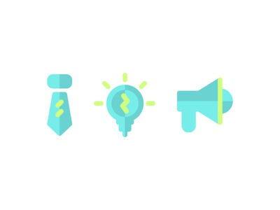 Flat Business Icons idea productivity icons business flat