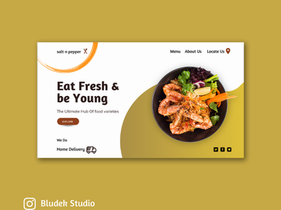 Food Website Ui Design 3d ux landingpage websitedesign food vector website design ui branding foodui illustration