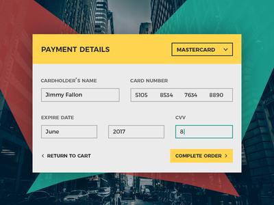 003 - Payment Details