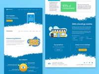 Homepage ux ui interface design web web design user experience user interface