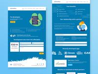 Developer & Partner pages ux ui interface design web web design user experience user interface