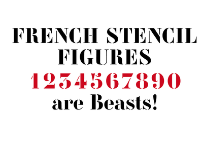 French figures astype french stencil