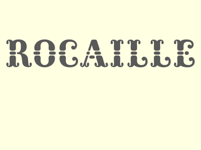 Rocaille type design type tuscan rococo caps rocaille