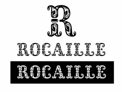Rocaille type design tuscan rocaille rococo type typeface font