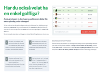 Golfleague landingpage