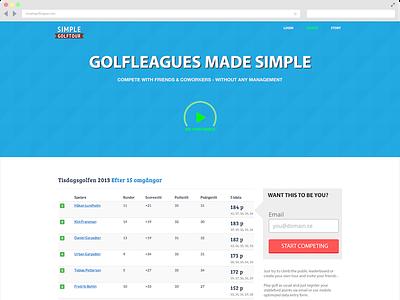 Simple Golfleague Landingpage landingpage golf website