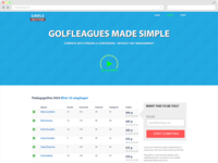 Simple Golfleague Landingpage