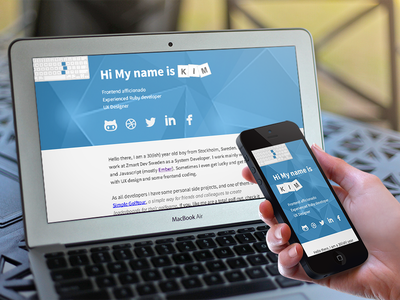 New website personal website responsive