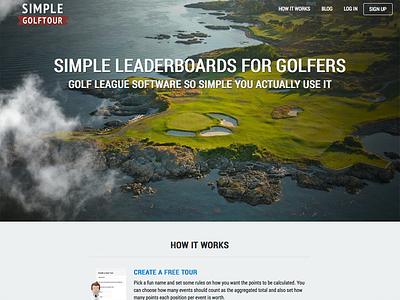Landing page landingpage golf