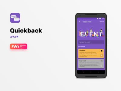 Quickback materialdesign ios login details feed progressivewebapp pwa agency nomtek mobile