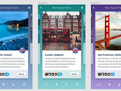 TRAVLST – Travel Bucket List App travlst wanderlust travel app mobile design bucket list ui ux mobile app travel