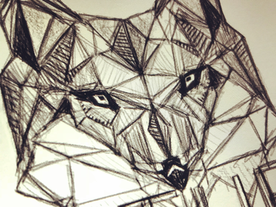 F U T U R E . F O X . polygon fox icon logo illustration sketch doodle art drawing