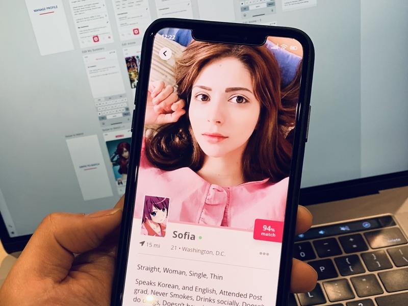 Re:Kosu Dating App (Kosu 2.0) ReDesign ui ux ux design mobile app nerd otaku anime dating app kosu