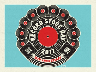 Record Store Day 2017 - 10th Anniversary (for 89.3 The Current) vintage logo record store day records vinyl