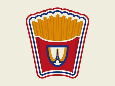 French Fried Paris logo badge french fries paris