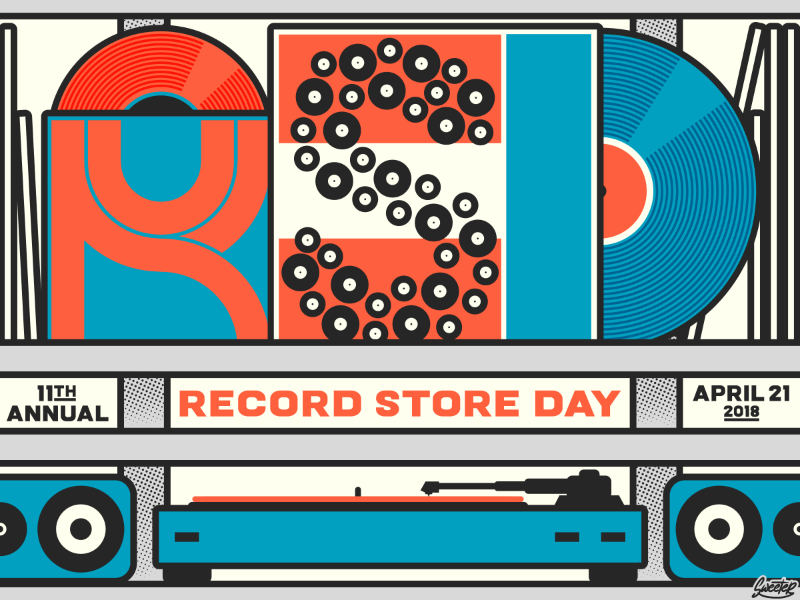 Record Store Day 2018 Graphic (for The Current) event promotion graphic records vinyl record store day