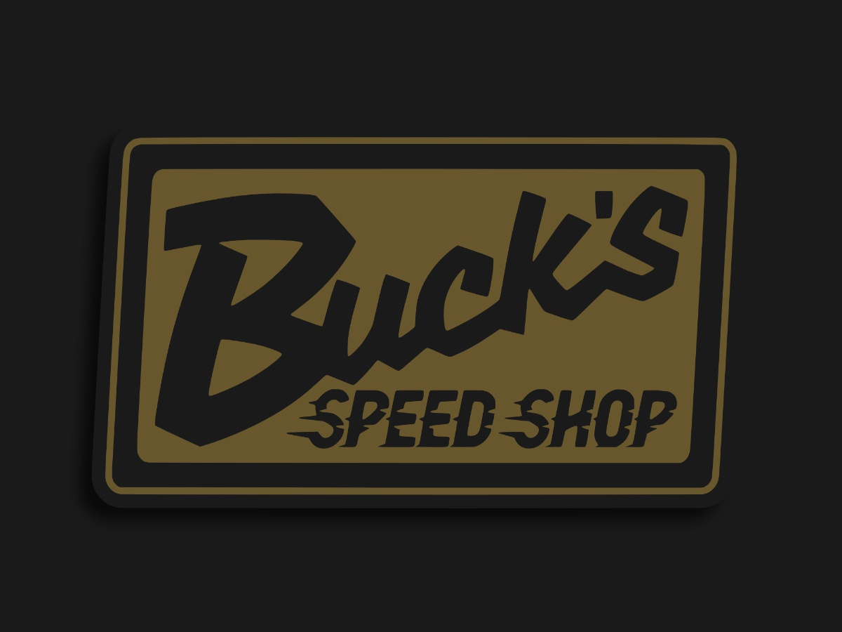 Bucks Speed Shop vintage logo vintage badge car automotive automobile patch patch design logo merchandise design merch design merchandise merch branding lockup badge