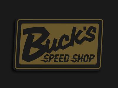 Bucks Speed Shop vintage logo vintage badge car automotive automobile patch patch design logo merchandise design merch design merchandise merch branding lockup badge