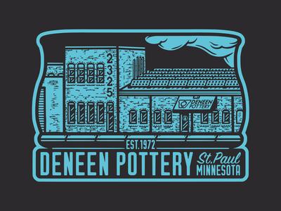 Deneen Pottery sticker vintage shirtdesign shirtgraphic merchdesign merchandise merch graphic illustration design illustration