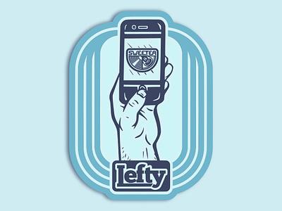 Lefty (Lefthanders Day 2019) hand spot illustration design graphic illustration illo left-handed lefty