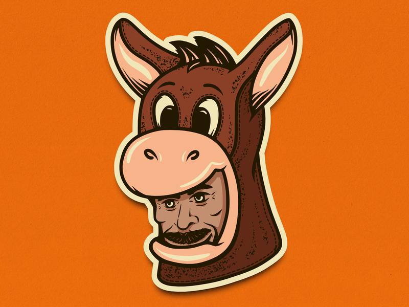 VINNY IN A HERMAN COSTUME! halloween vector illustration graphic stickers sticker stickermule