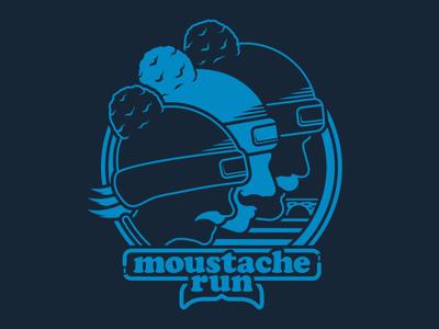 MOUSTACHE RUN 80s style 70s vintage design vintage badge tee design tee shirt graphic illustration merch
