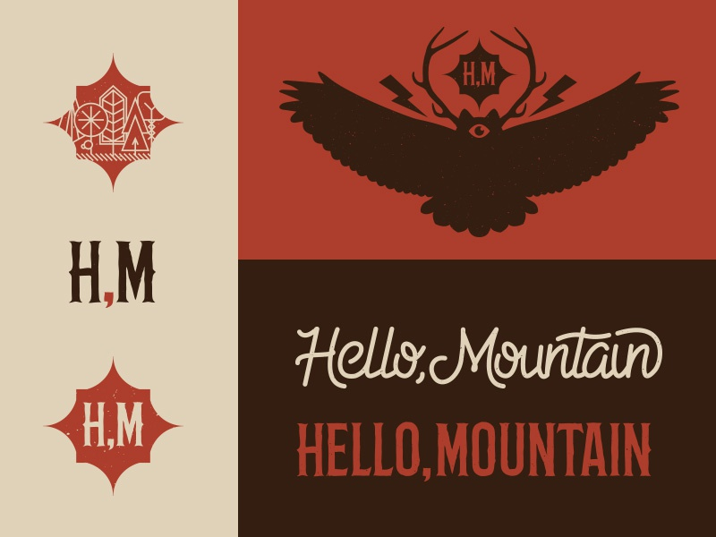 Hello, Mountain band branding