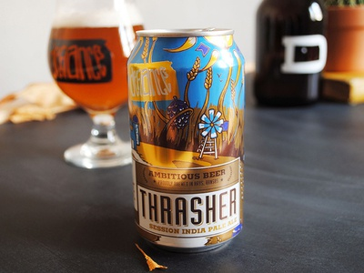 Thrasher Session I.P.A. from Defiance Brewing Co. beer can can art kansas beer label label illustration craft beer beer