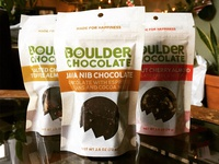 Boulder Chocolate bites packaging