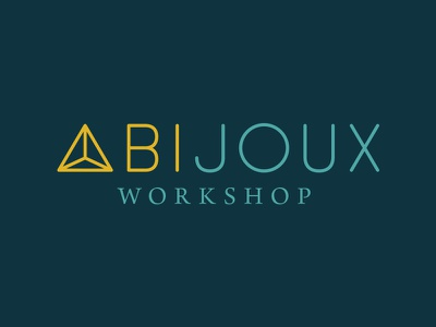Abijoux Workshop logo metalsmith type icon brand mark jewelry jewel custom type branding logo