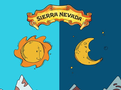 Sierra Nevada Snowboard Illustration pt. 1